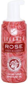 Leganza Rose mousse de limpeza refrescante