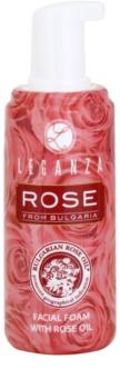 Leganza Rose osvěžující čisticí pleťová pěna