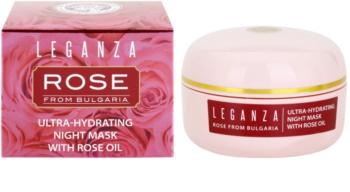 Leganza Rose hydratační noční maska