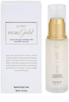 Leorex Gold gel iluminador paar contorno de ojos con oro