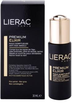 Lierac Premium elixír s luxusnými ošetrujúcimi olejmi proti starnutiu pleti