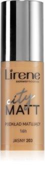 Lirene City Matt zmatňujúci fluidný make-up s vyhladzujúcim efektom