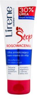 Lirene Foot Care crema y mascarilla para pies 2en1 para piel agrietada