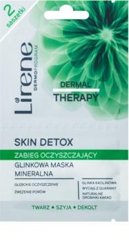Lirene Dermal Therapy Skin Detox minerálna čistiaca ílová maska pre mastnú a zmiešanú pleť