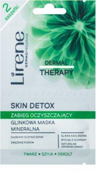Lirene Dermal Therapy Skin Detox reinigende Maske mit Tonerdemineralien für fettige und Mischhaut