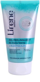 Lirene Algae Pure gel esfoliante de limpeza com efeito alisador
