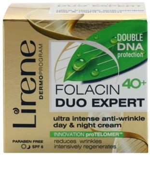 Lirene Folacin Duo Expert 40+ intenzivní protivráskový krém SPF 6