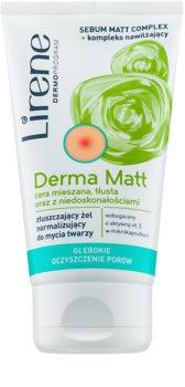 Lirene Derma Matt čistilni gel za normalizacijo kože z eksfoliacijskim učinkom