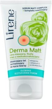 Lirene Derma Matt normalizujúci čistiaci gél s exfoliačným účinkom