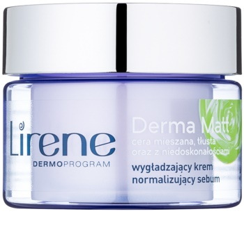 Lirene Derma Matt crema de noche normalizante  con efecto alisante