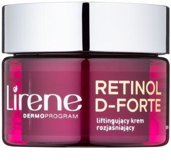Lirene Retinol D-Forte 70+ rozjaśniający krem na dzień z efektem liftingującym