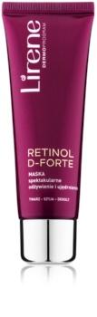 Lirene Retinol D-Forte hranilna in učvrstitvena maska  za obraz, vrat in dekolte