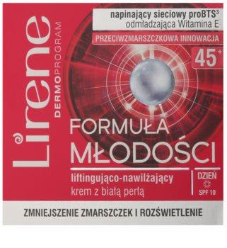 Lirene Youthful Formula 45+ Lifting-Tagescreme gegen Falten mit feuchtigkeitsspendender Wirkung
