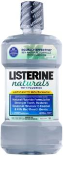 Listerine Naturals Herbal Mint antiseptická ústní voda s fluoridem