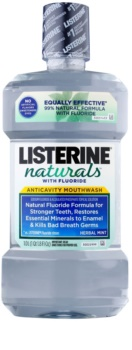 Listerine Naturals Herbal Mint Antiseptisches Mundwasser mit Fluor