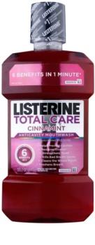 Listerine Total Care Cinnamint enjuague bucal para una protección completa de dientes 6 en 1