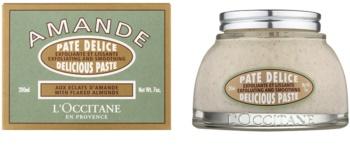 L'Occitane Amande peeling corporal  com óleo de amêndoas