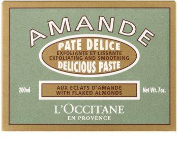 L'Occitane Amande tělový peeling s mandlovým olejem