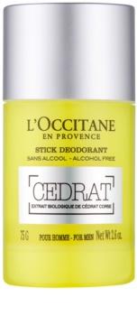 L'Occitane Cedrat deodorant roll-on pentru barbati 75 g Deodorant roll-on fara alcool