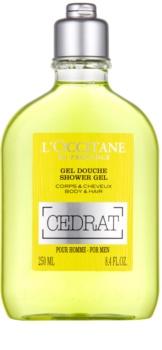 L'Occitane Cedrat sprchový gél na telo a vlasy