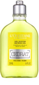 L'Occitane Cedrat гель для душу для тіла та волосся