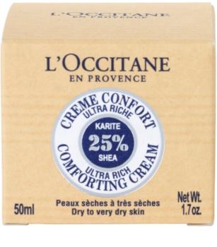 L'Occitane Karité подхранващ успокояващ крем за лице