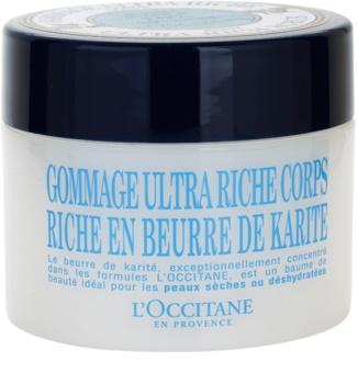 L'Occitane Karité exfoliant delicat pentru corp