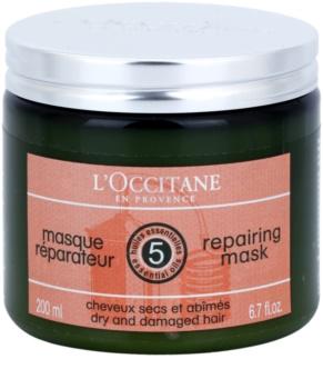 L'Occitane Hair Care regeneračná a hydratačná maska na vlasy s bambuckým maslom