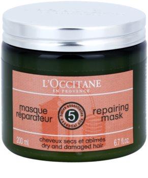 L'Occitane Hair Care regenerační a hydratační maska na vlasy s bambuckým máslem
