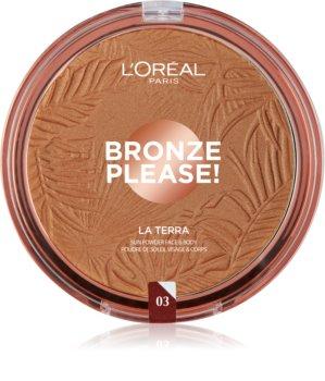 L'Oréal Paris Wake Up & Glow La Terra Bronze Please! bronzer a konturovací pudr