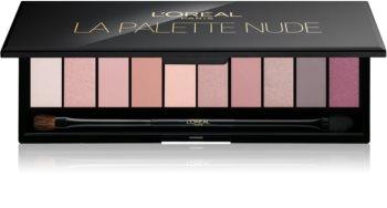 L'Oréal Paris Color Riche La Palette Nude paleta očných tieňov so zrkadielkom a aplikátorom