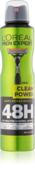 L'Oréal Paris Men Expert Clean Power antiperspirant ve spreji