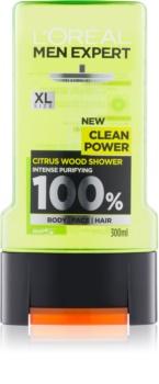 L'Oréal Paris Men Expert Clean Power gel za prhanje