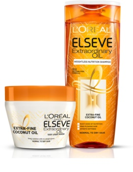 L'Oréal Paris Elseve Extraordinary Oil Coconut hranilni šampon za normalne do suhe lase