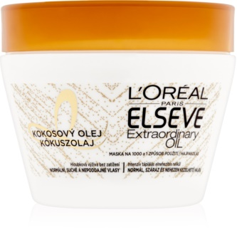L'Oréal Paris Elseve Extraordinary Oil Coconut поживна маска для нормального та сухого волосся з кокосовою олійкою