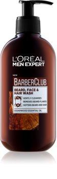 L'Oréal Paris Barber Club gel de curățat pentru față, barbă și păr