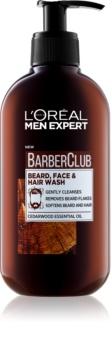 L'Oréal Paris Barber Club gel nettoyant pour barbe, visage et cheveux