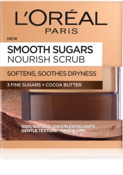 L'Oréal Paris Smooth Sugars Scrub piling za glajenje in prehrano kože