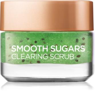L'Oréal Paris Smooth Sugars Scrub exfoliant impotriva punctelor negre