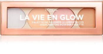 L'Oréal Paris Wake Up & Glow La Vie En Glow paleta za posvetlitev