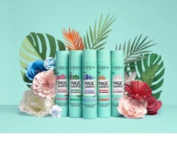 L'Oréal Paris Magic Shampoo Vegetal Boost suchý šampon pro objem vlasů, který nezanechává bílé stopy