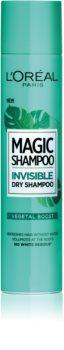 L'Oréal Paris Magic Shampoo Vegetal Boost suchy szampon zwiększający objętość włosów, który nie pozostawia białych śladów