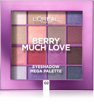 L'Oréal Paris Eyeshadow Mega Palette Berry Much Love paleta farduri de ochi