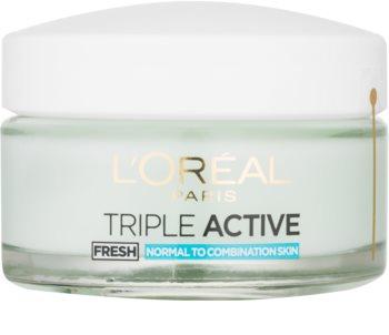 L'Oréal Paris Triple Activ Fresh gelový krém pro normální až smíšenou pleť