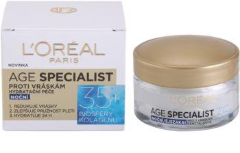 L'Oréal Paris Age Specialist 35+ noční krém proti vráskám