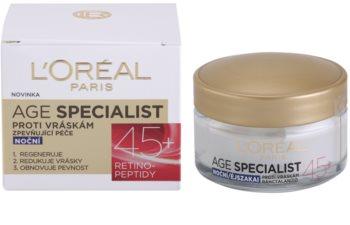 L'Oréal Paris Age Specialist 45+ nočna krema proti gubam