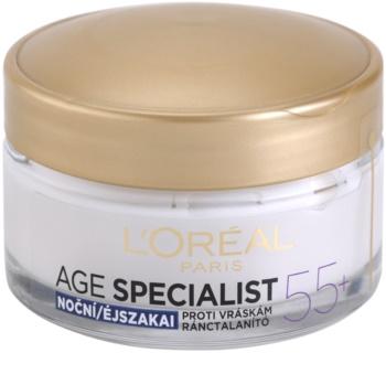 L'Oréal Paris Age Specialist 55+ krem na noc przeciw zmarszczkom
