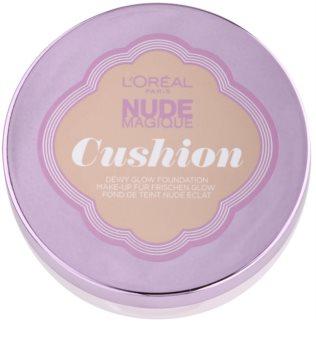 L'Oréal Paris Nude Magique Cushion posvetlitveni tekoči puder v gobici