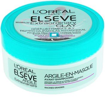 L'Oréal Paris Elseve Extraordinary Clay čistiaca maska pre rýchlo sa mastiace vlasy