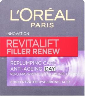 L'Oréal Paris Revitalift Filler Renew krém proti vráskám s kyselinou hyaluronovou